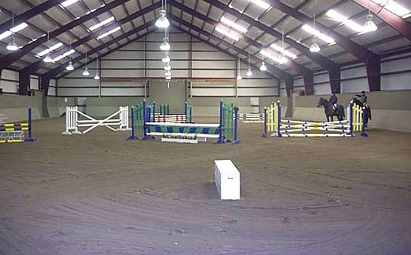 metal building riding arena